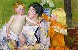 Mary Cassatt After The Bath painting