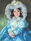 Mary Cassatt Margot In Blue painting