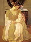 Mary Cassatt Mother And Child X painting