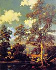 Maxfield Parrish Early Autumn White Birch painting