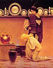 Maxfield Parrish Lady Violetta and the Knave painting