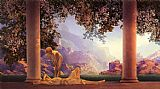 Landscape paintings - daybreak by Maxfield Parrish