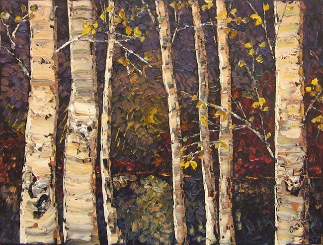 Maya Eventov Birches at Twilight