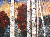 Maya Eventov Birch Paradise painting
