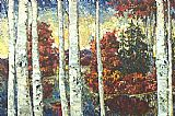 Maya Eventov Brian's Birches painting