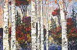 Maya Eventov Lake of Birches II painting