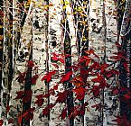Maya Eventov Lush Birches painting