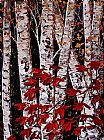 Maya Eventov Midnight Birch painting