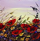 Maya Eventov Poppies at Dawn painting