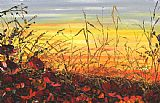 Maya Eventov Vibrant Sunset painting