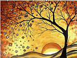 Megan Aroon Duncanson Dreaming in Gold painting