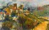 Michael Longo Hillside Town painting