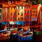 Michael O'Toole Colours of the Riviera painting