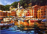 Venice paintings - Portofino Colors by Michael O'Toole