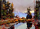 Michael O'Toole The Bonilla Approach, Westcoast Trail painting