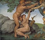 Michelangelo Buonarroti Genesis The Fall and Expulsion from Paradise The Original Sin painting