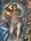 Christ paintings - The Last Judgement Christ the Judge by Michelangelo Buonarroti