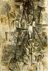 pablo picasso Paintings - Accordionist