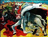pablo picasso Paintings - BULLFIGHT DEATH OF THE TOREADOR La corrida