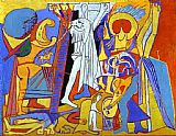 pablo picasso Paintings - Crucifixion