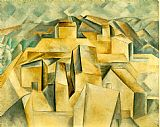 pablo picasso Paintings - Houses on the Hill Horta de Ebro