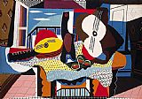 pablo picasso Paintings - Mandolin and Guitar