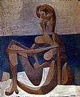 pablo picasso Paintings - Seated Bather