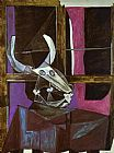pablo picasso Paintings - Still Life with Steers Skull