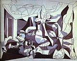 pablo picasso Paintings - Th Charnel House