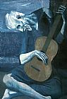 Pablo Picasso The Old Guitarist 1903 painting