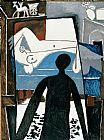 pablo picasso Paintings - The Shadow