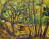 Paul Cezanne Grindstone and Cistern in a Grove painting