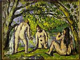 Paul Cezanne The Bathers painting
