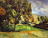 Garden paintings - Trees in Park by Paul Cezanne