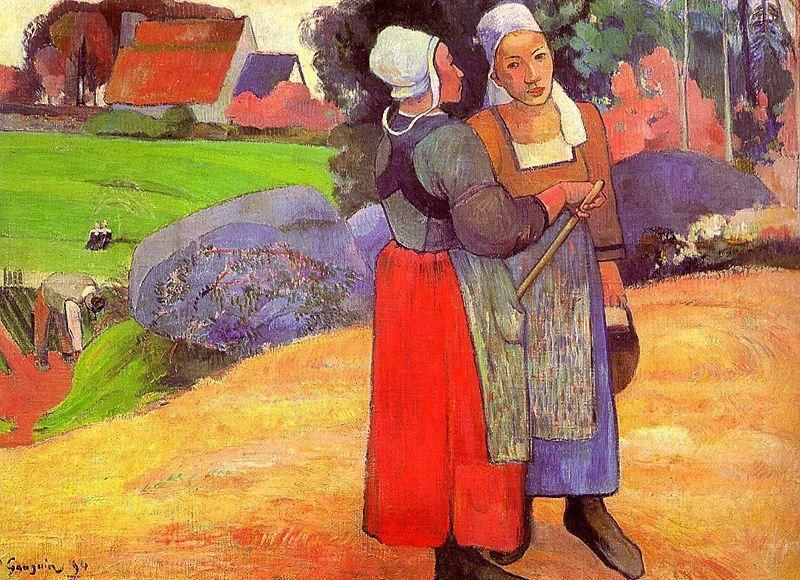Paul Gauguin Two Breton Peasants on the Road