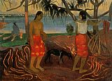 Paul Gauguin Beneath the Pandanus Tree painting