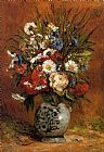 Paul Gauguin Daisies and Peonies in a Blue Vase painting