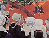 Paul Gauguin Jacobs fight with the angel painting