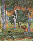 Paul Gauguin Landscape on La Dominique painting