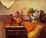 Paul Gauguin Pots and Bouquets painting
