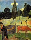 Paul Gauguin The Red Cow painting