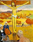 Christ paintings - The Yellow Christ by Paul Gauguin
