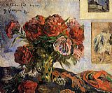 Paul Gauguin Vase of Peonies painting