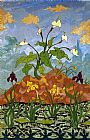 Paul Ranson Arums and Purple and Yellow Irises painting