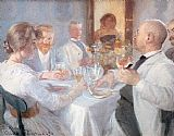Peder Severin Kroyer Comida en Antino painting
