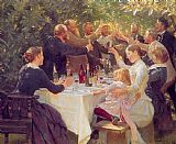 Peder Severin Kroyer Hip hip hurra painting