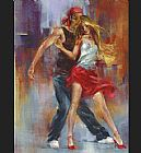 Dancer paintings - Street Dance by Pedro Alvarez