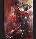 Dancer paintings - Tango Argentino II by Pedro Alvarez