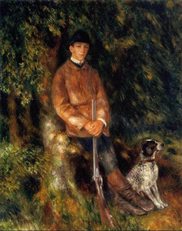Pierre Auguste Renoir Alfred Berard And His Dog
