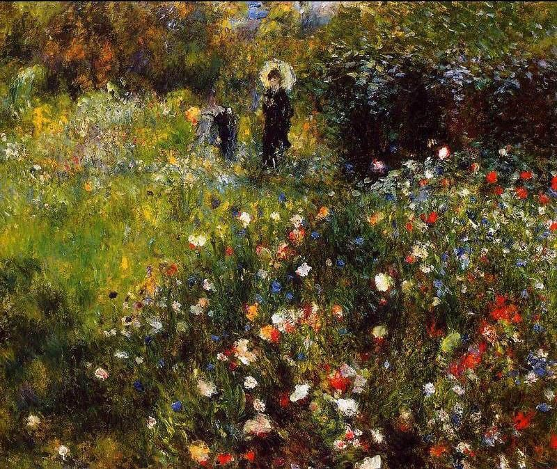 Pierre Auguste Renoir Summer Landscape Aka Woman With A Parasol In A Garden